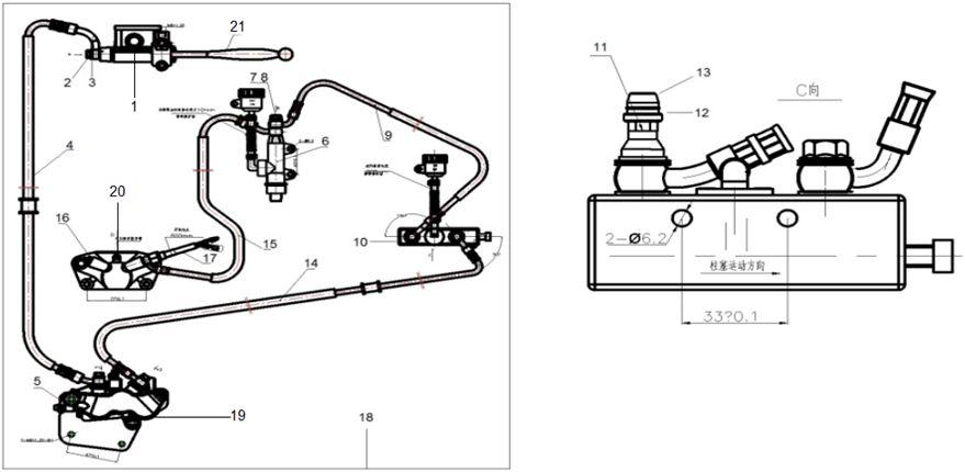 KSR MOTO TR 125 SM EU4 Kombinált fékrendszer (CBS)