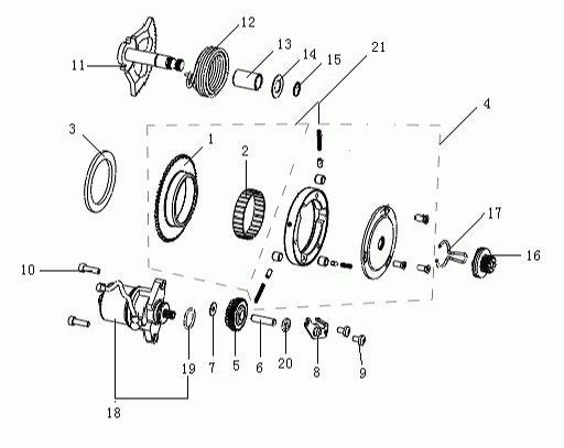 KSR MOTO Pandora 50 Berúgó szerkezet