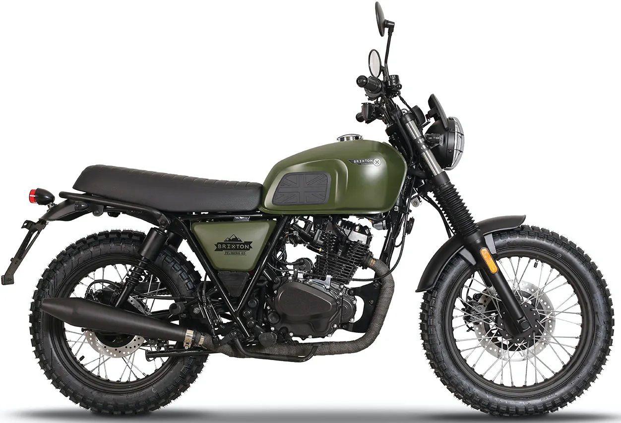 BRIXTON Felsberg 125 ABS (katonai zöld)