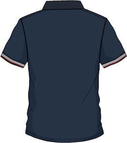 Lambretta galléros póló kék/piros/fehér