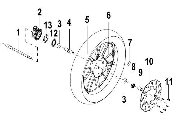 KSR MOTO CODE 125 EU4 Első kerék